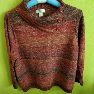 Cjbanks button on collar knit sweater